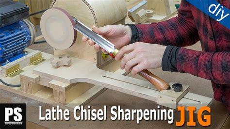 homemade lathe chisel sharpening jig youtube