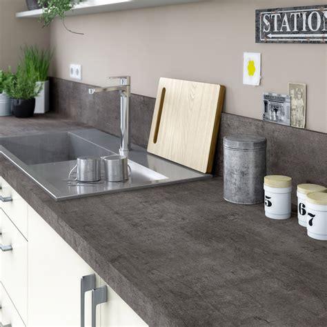 béton ciré plan de travail cuisine castorama plan de travail stratifié steel noir mat l 315 x p 65 cm