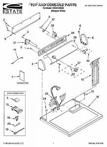 Parts For Estate Eed4100sq0  Top And Console Parts