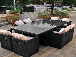 jardin salon de jardin exterieur lovely canape exterieur With canape resine tressee exterieur 7 mobilier jardin bambou