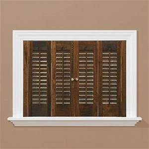 homebasics traditional real wood walnut interior shutter With home depot window shutters interior
