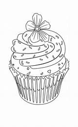 Coloring Cupcake Pages Flower Cupcakes Adult Cute Topping Drawing Zentangle Print Hard Food Drawings Colouring Printable Cake Sheets Birthday Adults sketch template