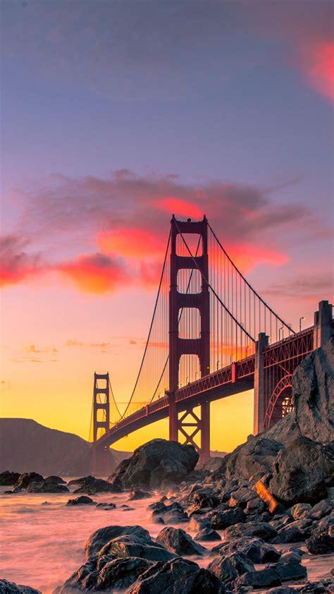 francisco san bridge gate golden 4k usa aesthetic sunset wallpapers vertical autumn travel paysage fond wallpapershome ecran hd 2k ecran