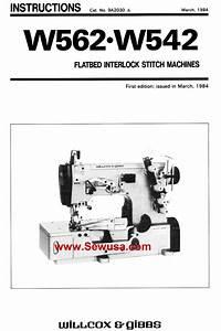 Collectibles Manuals  U0026 Books Pegasus W562 W542 Sewing