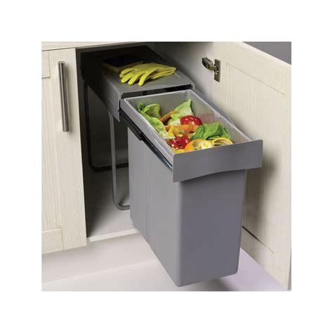 poubelle cuisine encastrable poubelle encastrable coulissante 1 bac 40 litres