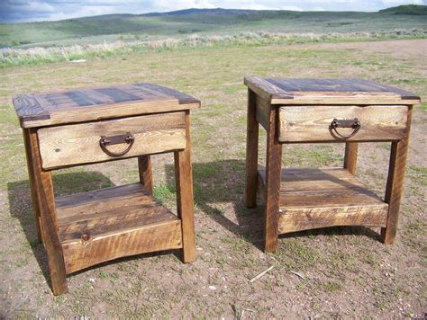 Rustic End Tables Wyoutlawfurniture.co