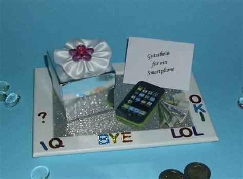 geldgeschenk gutschein handy smartphone