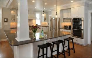 kitchen islands with columns 29 u shaped kitchens with a peninsula