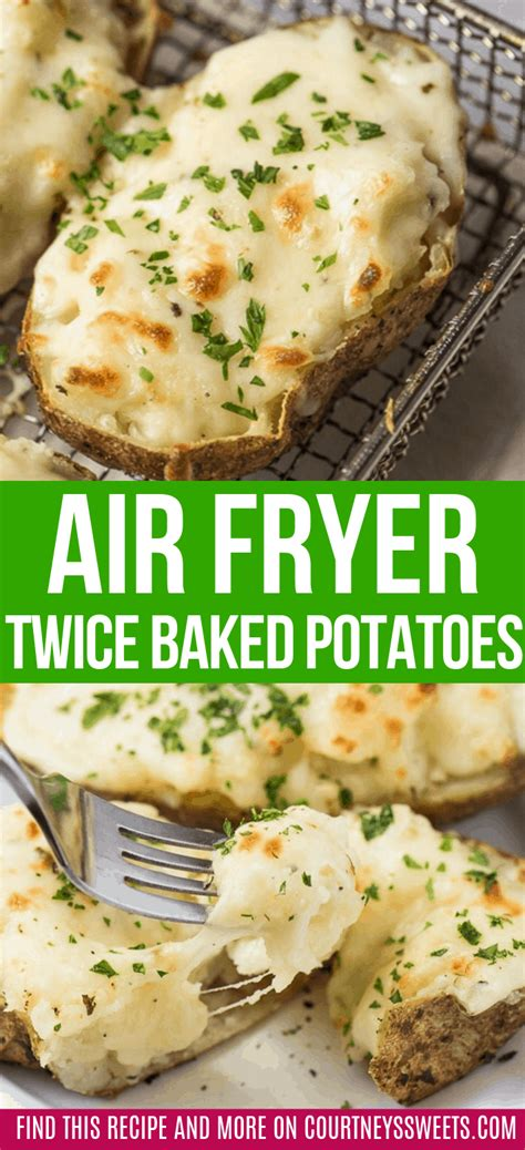 air fryer  baked potatoes courtneys sweets