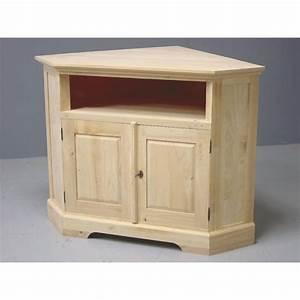 Meuble D Angle Pour Tv : meuble tv d 39 angle 2 portes h v a 105cm tradition pier import ~ Teatrodelosmanantiales.com Idées de Décoration