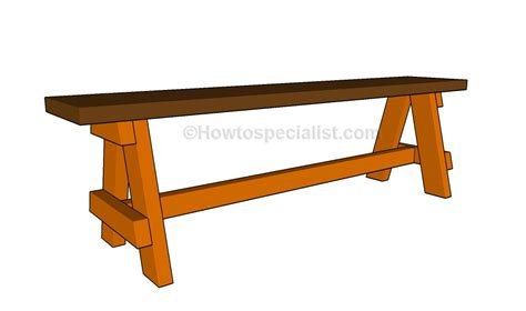 deck bench plans free howtospecialist how to build a bench seat howtospecialist how to build