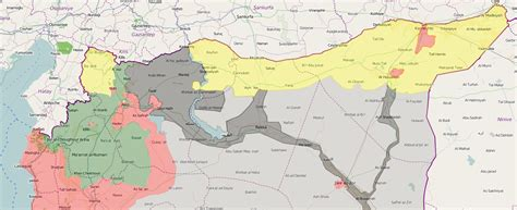 ypg intends  occupy northern syria map update