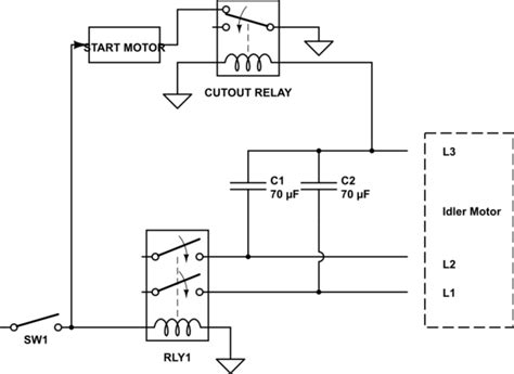 Diy Rotary Phase Converter With Starter Motor Cutout