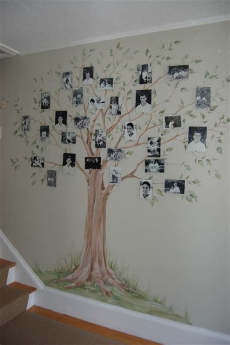 Hand Painted Family Tree Mural  Traditional Hall