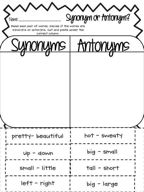 synonym or antonym pdf drive school stuff