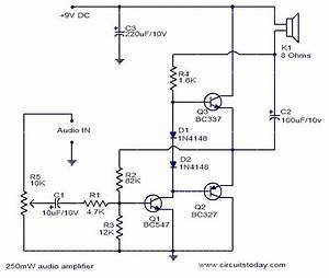 250mw Audio Amplifier