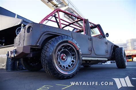 jeep wrangler lowered 2015 sema starwood motors ruf nek jeep jk wrangler unlimited