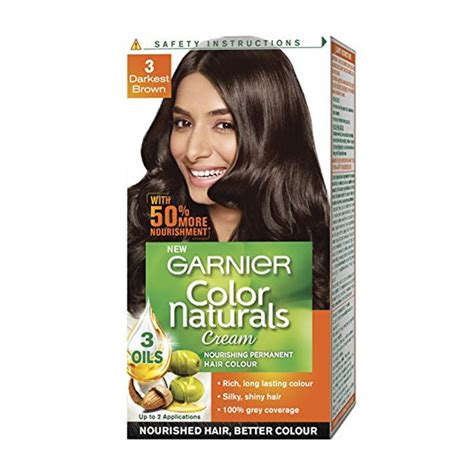 Darkest Brown Hair Color by Garnier Darkest Brown Hair Dye Images