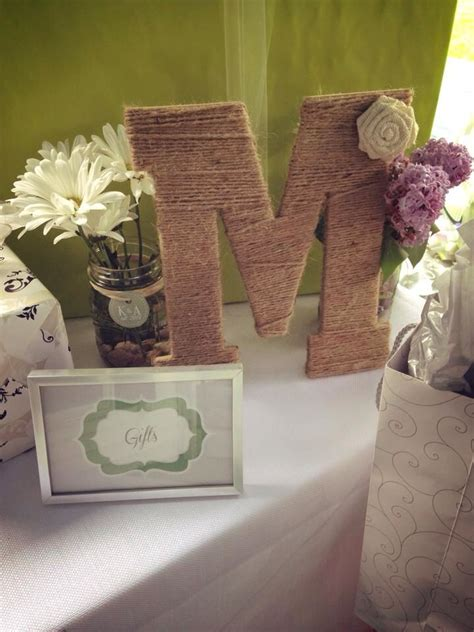 rustic bridal shower party pinterest initials food