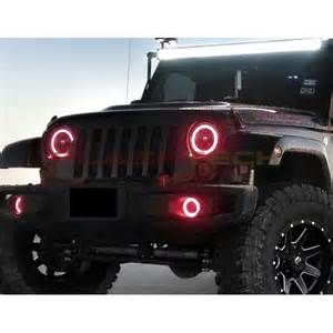 led home interior lights jeep wrangler v 4 plasma color change led halo headlight