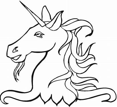 Unicorn Coloring Pages Mythical Creatures Creature Head
