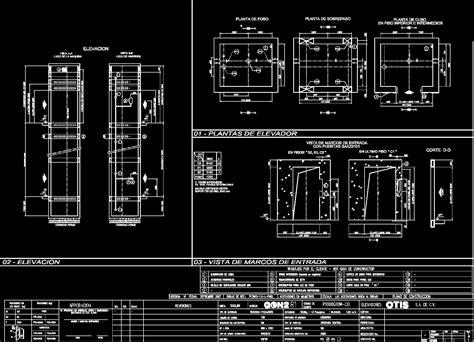 elevator specifications dwg block  autocad designs cad
