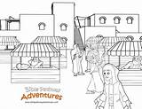 Coloring Passover Market Temple Pages Template Bible Pathway Adventures Herods Jerusalem Biblepathwayadventures Cp January sketch template