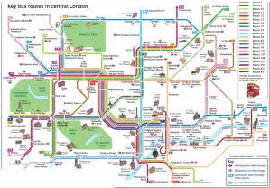Central London Bus Routes Map