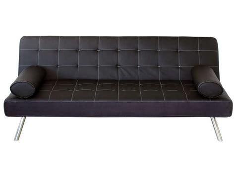 conforama canapé lit clic clac banquette clic clac coloris noir en pu vente de