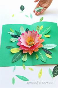Birthday Card Template Printable Make A Birthday Card With Pop Up Watercolor Flower Free