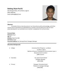 resume format for ojt information technology students should know sle resume format for students sle resumes