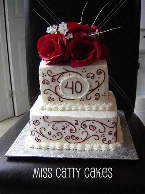 images   anniversary cake  pinterest wedding tops ruby anniversary