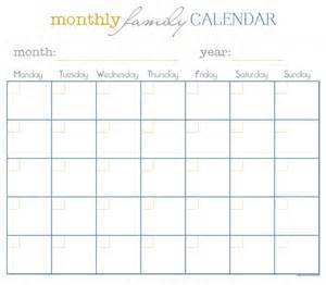 Free Printable Monthly Meal Calendar