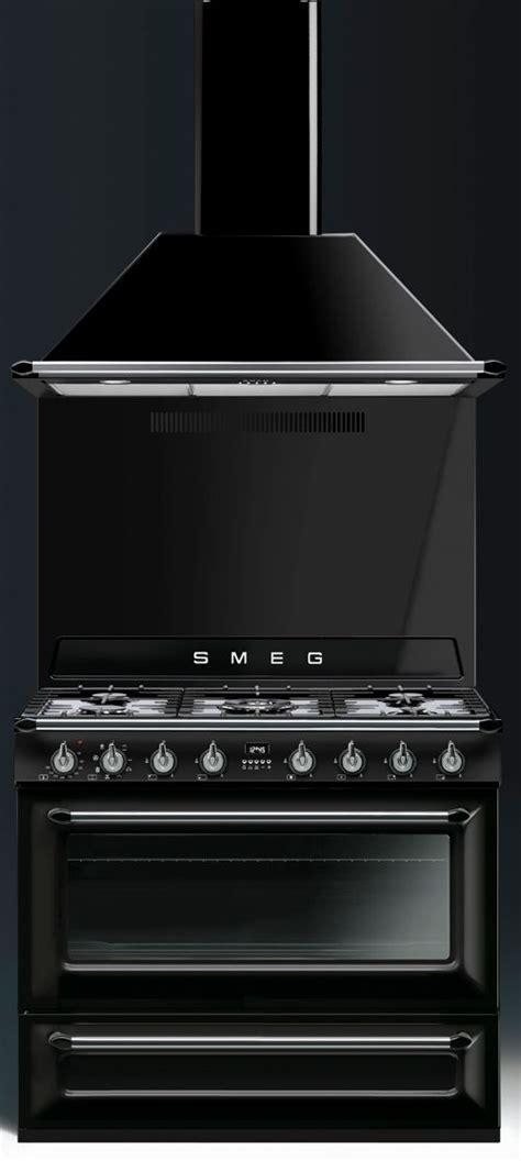 piano cuisine smeg piano de cuisson smeg tr90 noir avec hotte et crédence cuisine tes rencontré et