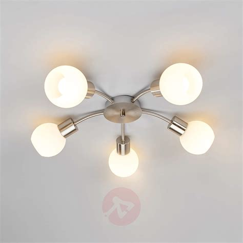 round led light bulbs round 5 bulb led ceiling light elaina nickel matte