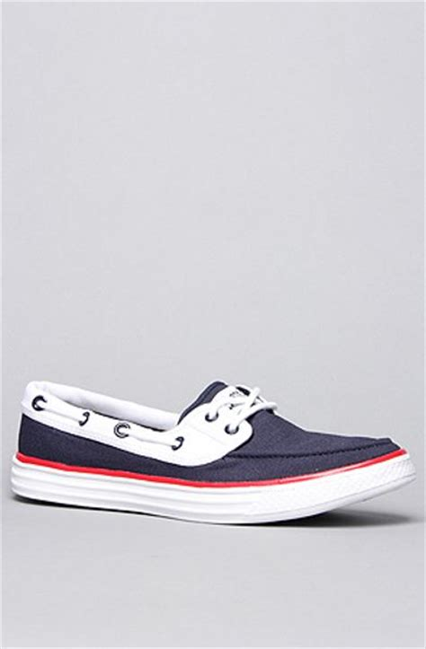 Converse Boat Shoes by Converse Boat Shoe In Blue For Navy Lyst