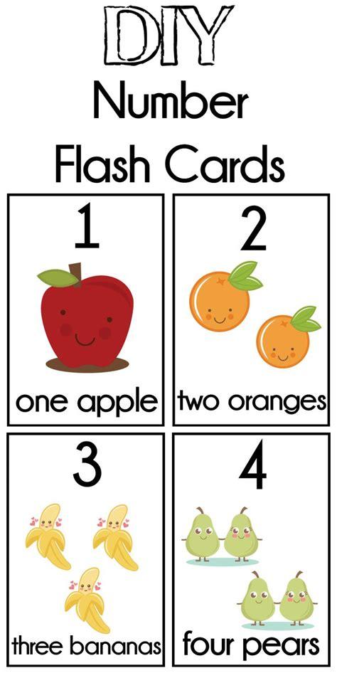 free printable preschool flash cards diy number flash cards free printable number math and 77023