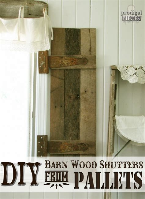 diy barn wood shutters  pallets prodigal pieces