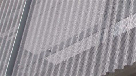 decoration services  perforated corrugated metal     perforated corrugated metal