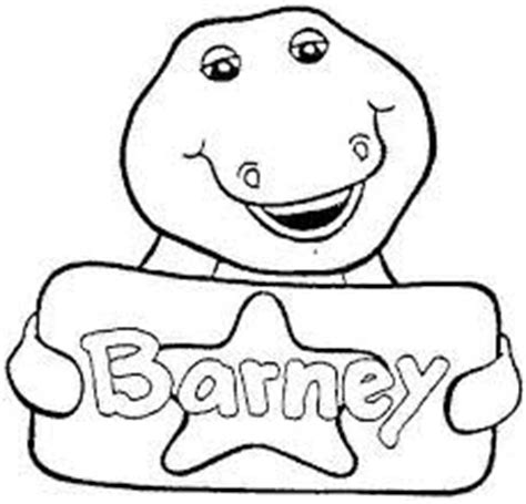 printable barney pictures barney coloring pages