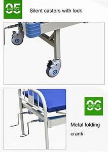 Two Crank Medical Hospital Ward Bed Backrest Adjustable