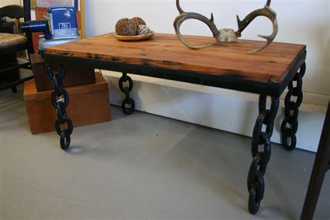 30223 custom metal furniture best crafted custom reclaimed wood coffee table with chain