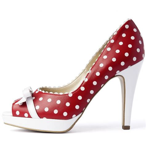 high heels hg17 polkadot kaiser and white polka dot high heel