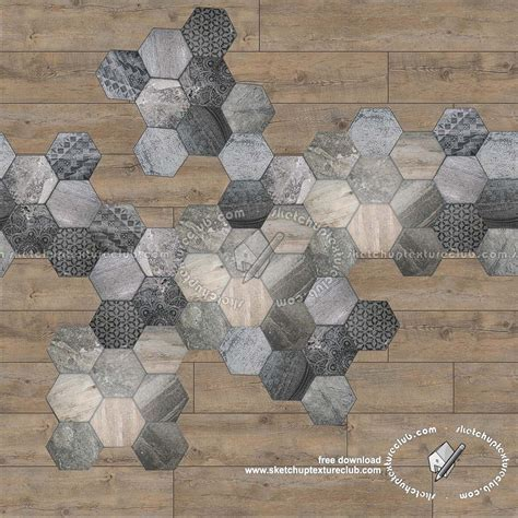 Hexagonal tile texture seamless 18114