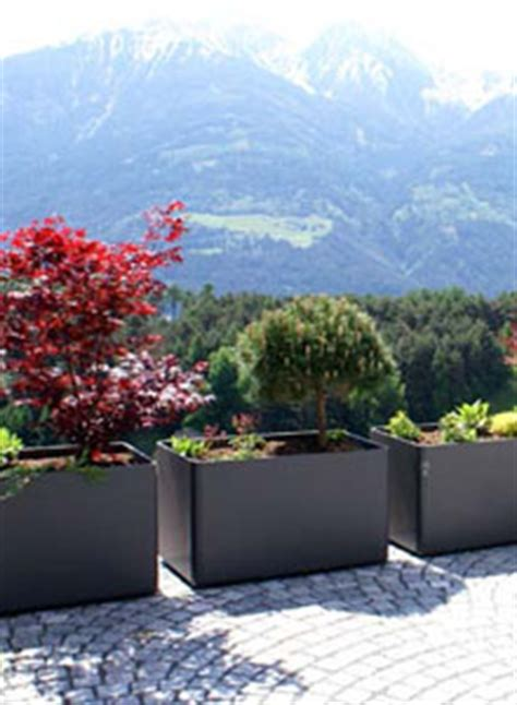 modern outdoor planters rectangular tall planter pot