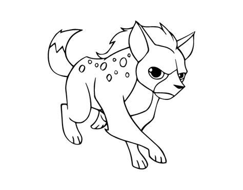 A Hyena Coloring Page