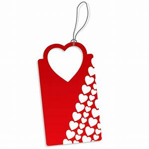 red heart shaped tags icon – Free Icons Download