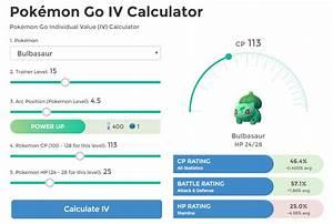 Pokemon Iv Berechnen : pok mon go iv calculator pok go ~ Themetempest.com Abrechnung