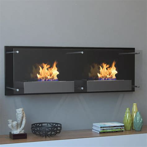 Moda Flame Faro 47 in. Wall Mounted Ethanol Fireplace in