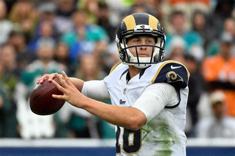 los angeles rams jared goffs nfl clock  ticking